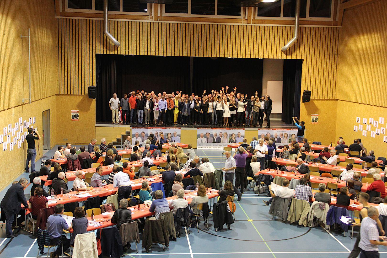 Congrès à Glovelier, avec tous les candidats, vendredi 25 septembre 2015  (© PSJ)