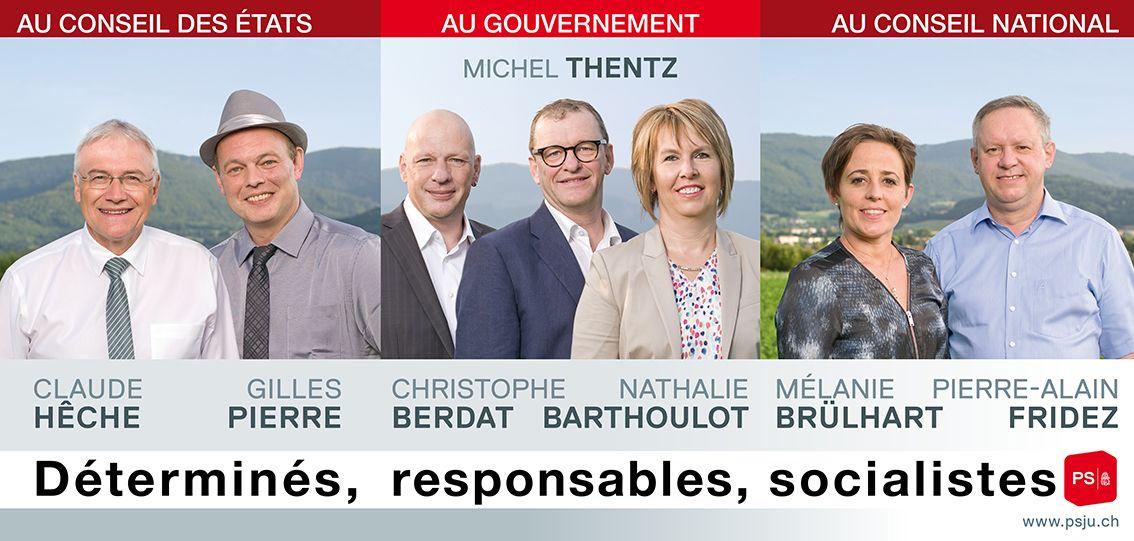 Mobilisation aux Franches-Montagnes pour une séance de préparation d'envoi de cartes (© PSJ)